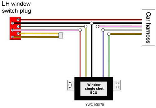 MG TF YWC-106170 Window Lift ECU MGF Electric Window Lift Control Module
